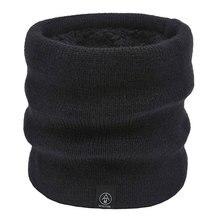 Зимние теплые вязаные шарфы-кольца унисекс для мужчин и женщин; плотные эластичные вязаные шарфы; детская теплая плюшевая Полиэстеровая шарф