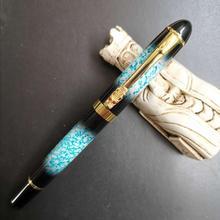 цена на OEM Dragon Clip Fountain Pen Metal Blue With Black Ink Pen Fine Nib Business Stationery Office school supplies Writing Gift