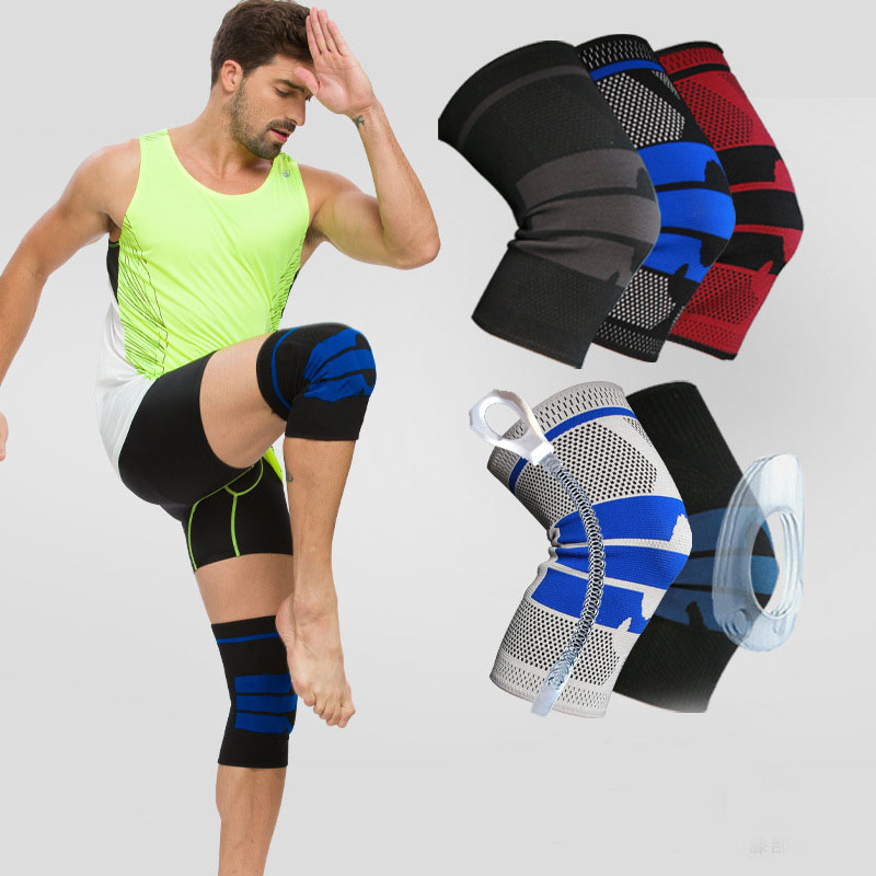 1PCS Basketball Running Knee Support Protect Sports Braces Kneepad Elastic Nylon Silicon Padded Compression Knee Pad Sleeve