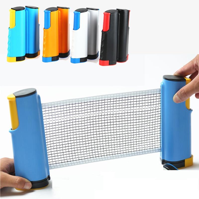 2020 Portable Table Tennis Sports Net Retractable Ping Pong Post Net Rack Racket Blade Mesh Net Student Sports Equipment