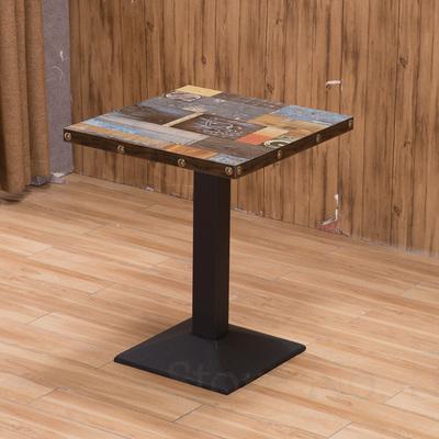 Изготовленный На Заказ кафе ресторан в западном стиле открытый стол десерт магазин обеденный стол молока Чай Ресторан общественного питания быстрая обеденный стол и стул комбинации - Цвет: 60x60cm  6