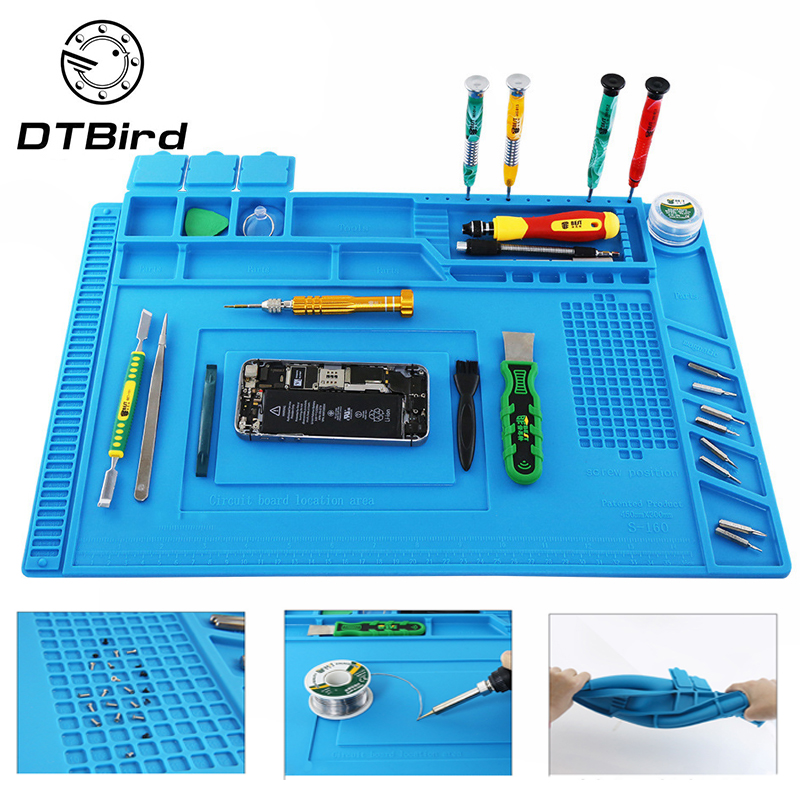 Heat Insulation Silicone Working Mat Heat-resistant Soldering Station Repair Insulator Pad Maintenance Platform Magnetic Cushion