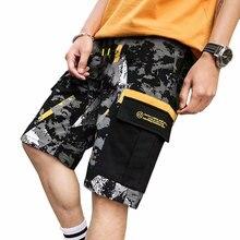 К 2020 году новые камуфляж мужчины шорты свободного покроя Мужские шорты карго длина до колена летние мужские короткие брюки Мужские шорты военный мужская одежда