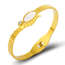 Luxury Brand Stainless Steel Bangle Bracelet for Women Jewelry Shell Snake Gold Color Pulserias Love Classic Gift
