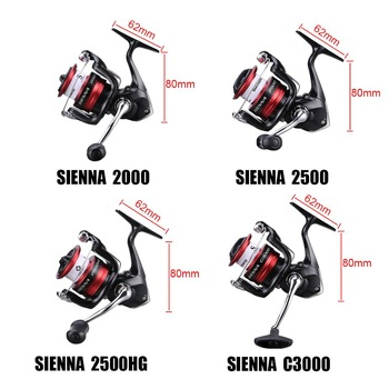 Best SHIMANO SIENNA FG 2000 2500 C3000 Spinning Fishing Reel 3D Gear Fishing Reels cb5feb1b7314637725a2e7: 1000|2000|2500|2500HG|4000|C3000