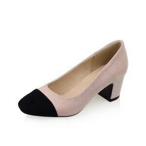 Image 5 - ZawsThia 2020 טלאי מותג שמות רדוד עגול הבוהן משאבות גבירותיי נעלי אופנה גבוהה עקבים נעלי עקב פורמליות משרד אישה נעליים