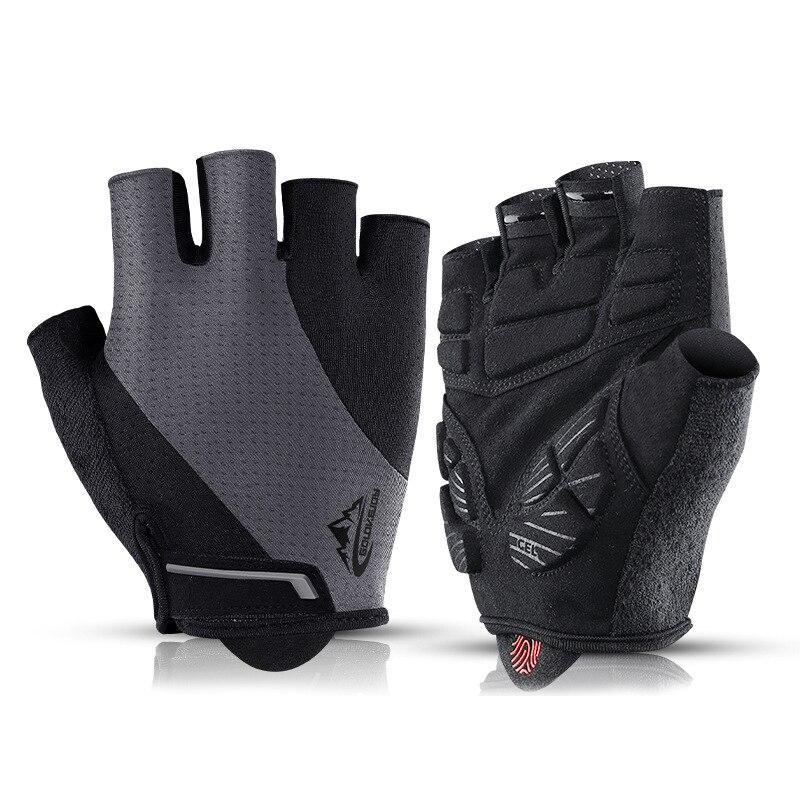 Велосипедные перчатки, перчатки с открытыми пальцами для езды на открытом воздухе, для горного велосипеда, ударопрочные дышащие мотоциклет...