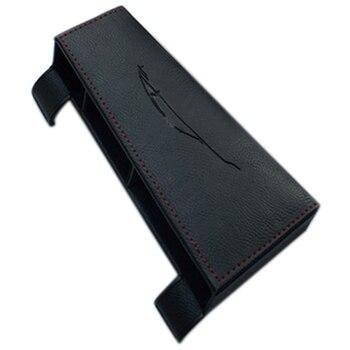 Car Styling Accessories Leather Interior Car Seat Seam Storage Box Organizer Holder for Panamera 971 2017 2018(Black)