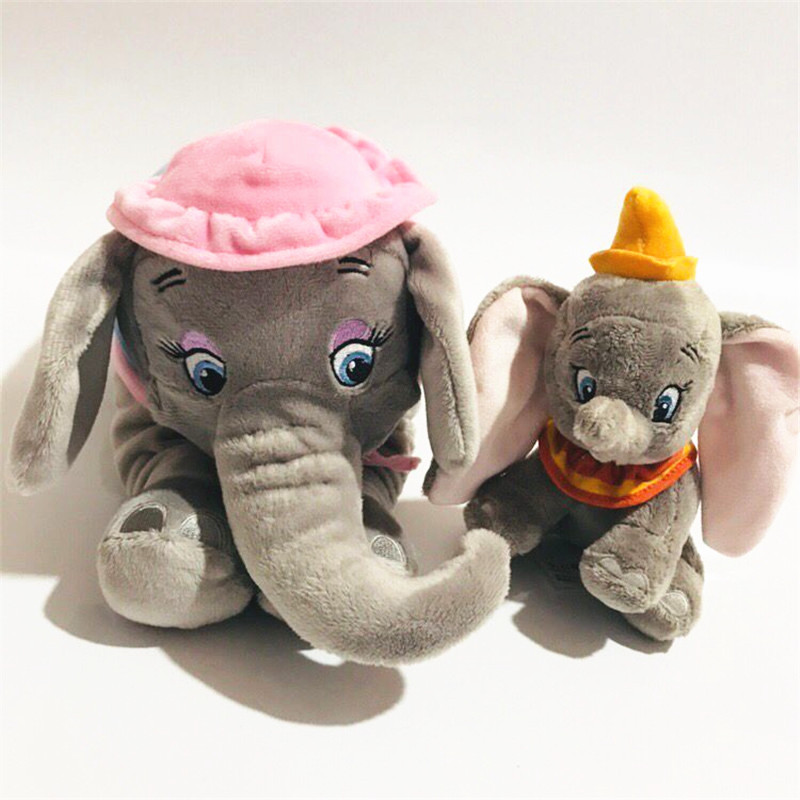 1set/llot Plush Timothy Mouse Calm Big Ears Fly Elephant Mather And Baby Doll Gift Children's Toys