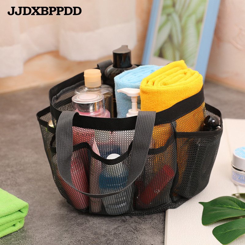 Mesh Beach Bag Portable Travel Bag Mesh Storage Bag Swimming Transparent Wash Bag Cosmetic Bag