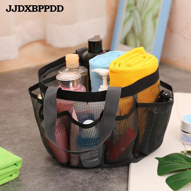 Mesh Beach Bag Portable Travel Bag Mesh Storage Bag Swimming Transparent Wash Bag Cosmetic Bag