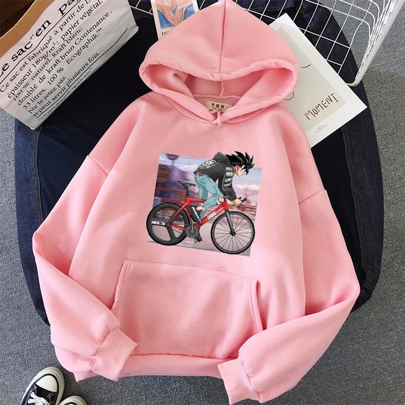 Japanese Anime Printed Hoodies 2021 Spring Autumn Long Sleeve Hoodie Women Cartoon Graphic Streetwear Sweatshirts Female Tops 13