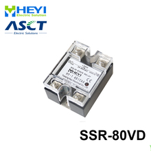 цена на 80A SSR,input DC 0-10V single phase ssr solid state relay voltage regulator
