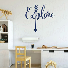 Family Quotes Arrow Design Wall Life is an Adventure Vinyl Mural Wallpapers bedroom Decor WL1962