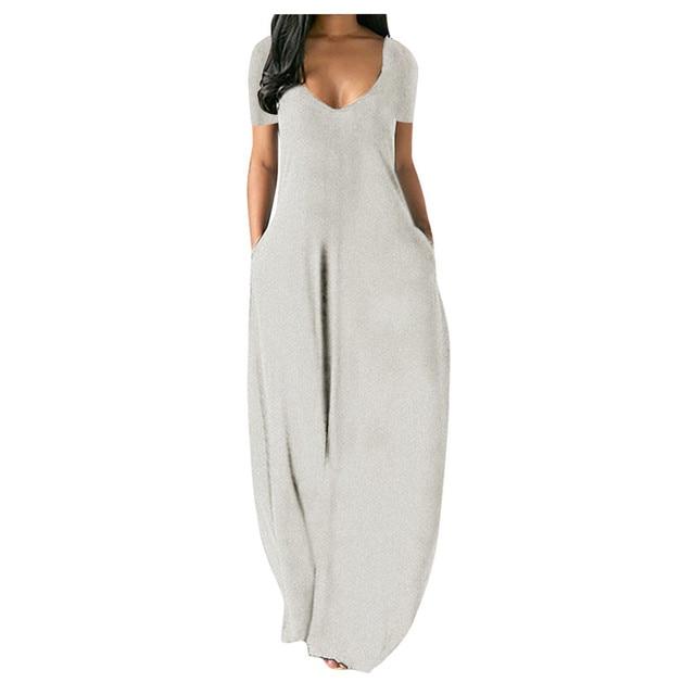 Fashion Summer Maxi Dress Women's Printed Sundress Casual Short Sleeve Vestidos Female High Waist Robe Femme Plus Size 5XL 6