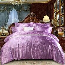 2019 jogo de cama em casa jacquard duvet cover conjunto ouro escuro 4 pçs/set roupa de cama luxuosa rainha king size adulto conjunto