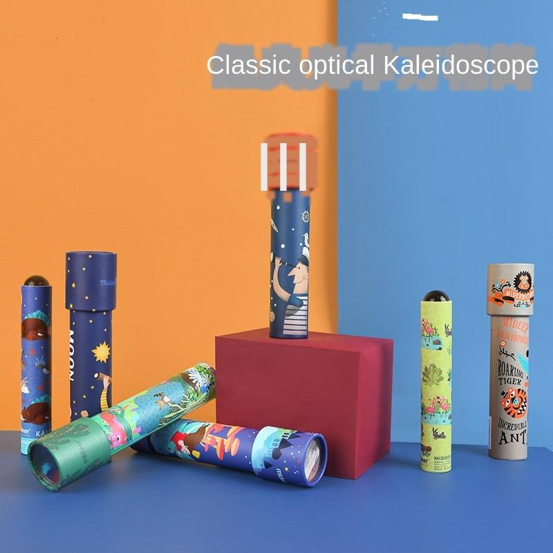 DIY Kaleidoscope Rotating Paper Creative Children's Educational Toys Multi Prism
