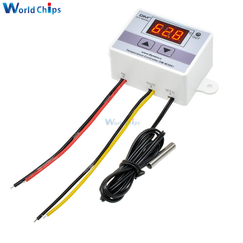 <font><b>XH</b></font>-<font><b>W3001</b></font> <font><b>W3001</b></font> 12V AC 110V 220V 10A Digital Incubator LED Temperature Controller For Arduino Cooling Heating Switch Thermostat image