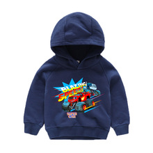 Machine Kids Boy Blazing Speed Car Cartoon Clothes Hoodies Outerwear Hooded Girls & Boys Sweatshirt for 3 4 6 8 10 Years