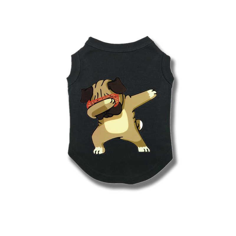 ใหม่สุนัขเสื้อผ้าสัตว์เลี้ยงพิมพ์การ์ตูนสัตว์สำหรับสัตว์เลี้ยงขนาดกลางขนาดเล็กแมวสุนัขเสื้อเสื้อยืดเสื้อกั๊กสัตว์เลี้ยงลูกสุนัขfrench Bulldog