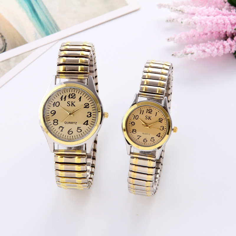 Fashion Watch For Women Luxury Ladies Wrist Watches Quartz Clock Male Watches For Couples Elastic Band Watch Daily Wear Gifts