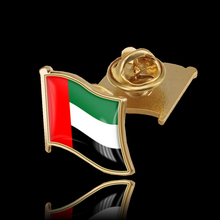United Arab Emirates Flag Pin Brooch Metal Lapel Pin Brooch Badge Jewelry/Bag Accessories