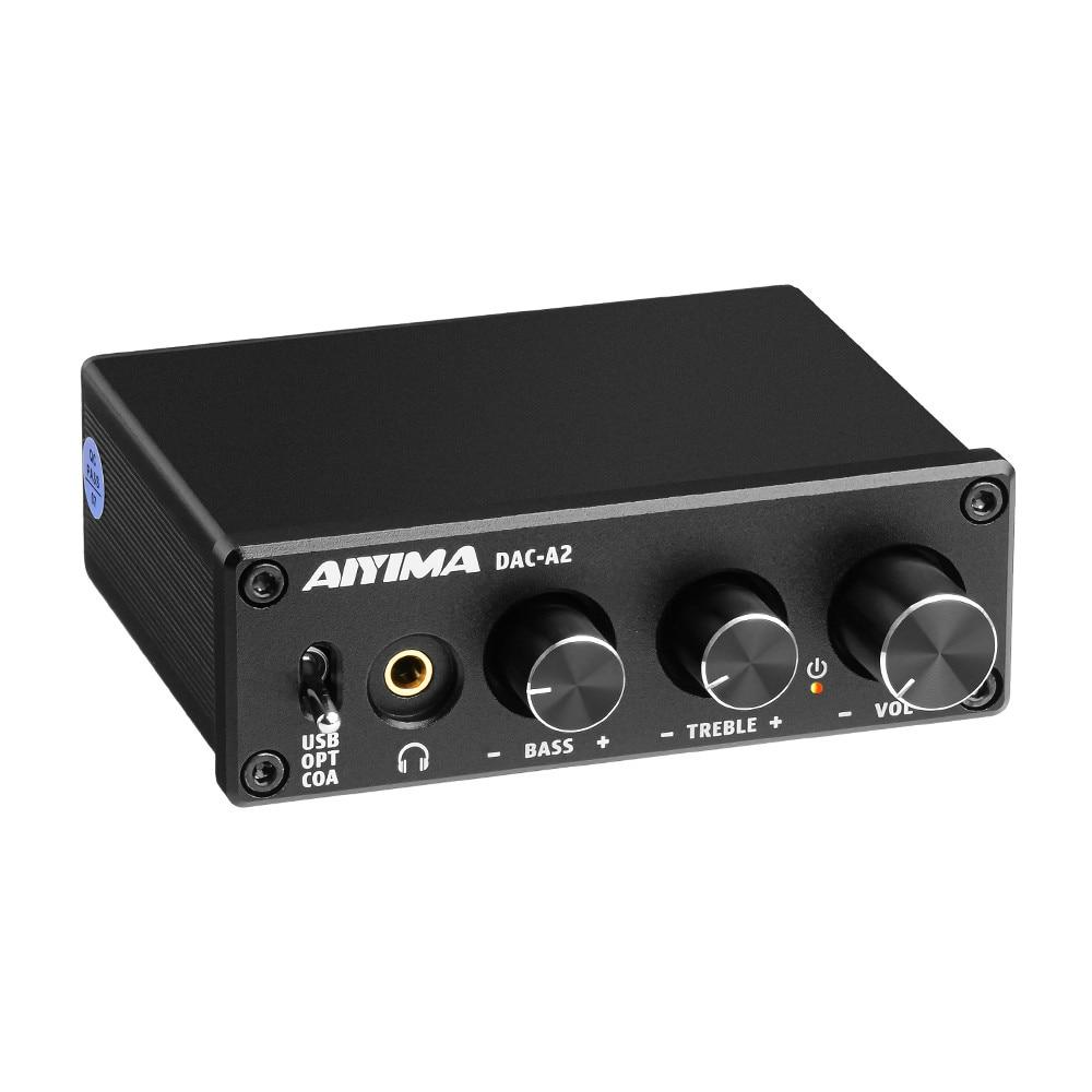 Аудио декодер AIYIMA USB DAC, усилитель звука, цифро-аналоговый аудио конвертер MINI Hi-Fi 2,0, домашний кинотеатр, USB/коаксиальный/оптический