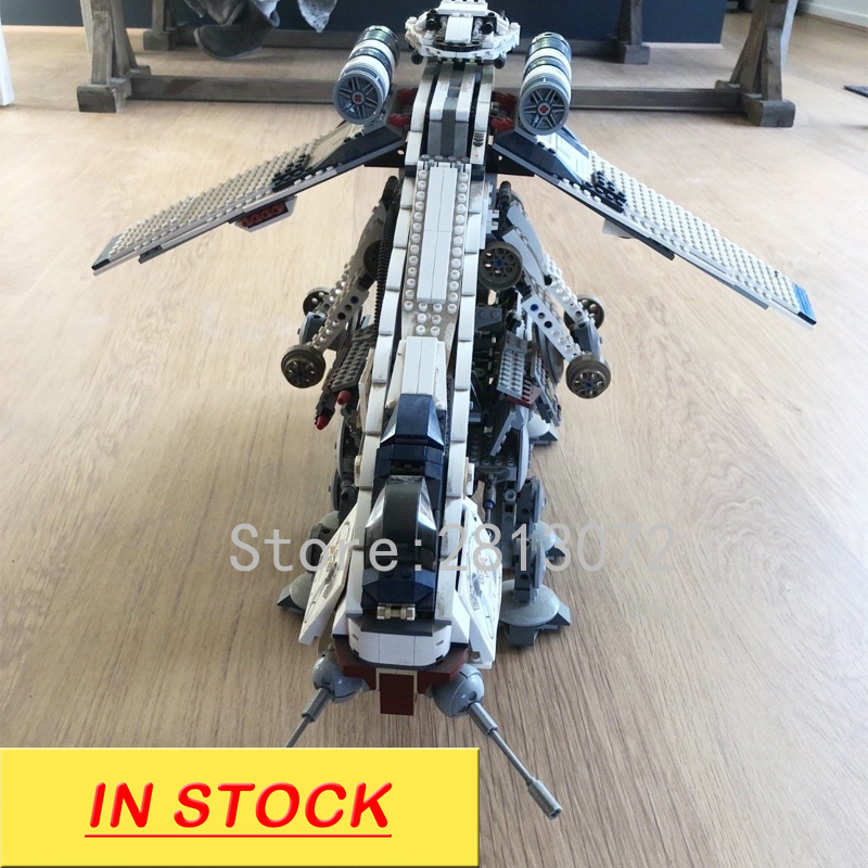 In stock 05053 1758pcs Republic Dropship with AT-OT Walke Building Block Bricks Educational Toys compatible with <font><b>10195</b></font> image