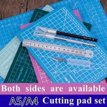 A5 twosided Cutting Mats Cushion Board Handwritten Test Paper Drawing Beauty WorkbeScaling Model Rubber Seal Engraving Board DIY