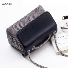 ZOOLER BRAND quality Genuine Leather bag bags Handbags women Shoulder bags cowhide patchwork women messenger bag 2017 new#6986 zooler bags handbags women famous brand crossbody bag small superior cowhide leather messenger bag for lady mini bag 3821