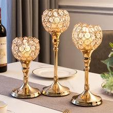Cristal nodic tealight castiçais de vidro metal castiçais mesa do casamento peça central sala estar decoração para casa