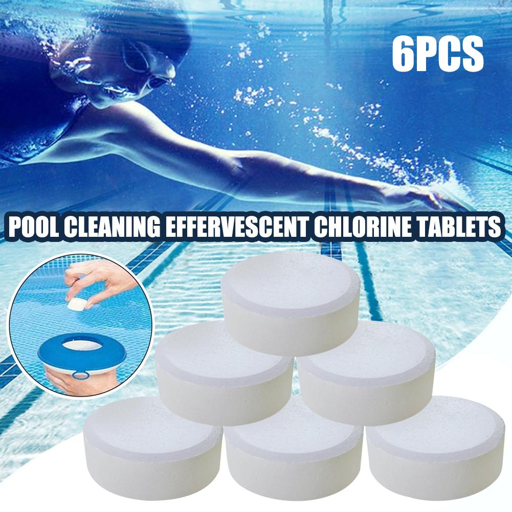 6Pcs Pool Cleaning Effervescent Chlorine Tablet Multifunctional Effervescent Tablet Spray Cleaner Home Kitchen Swimming Pool