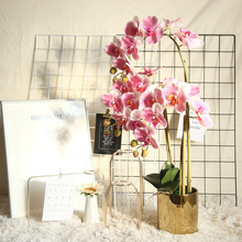 1PCs Phalaenopsis Artificial Flowers Orchid Flower Wedding Decoration Artificial Plant for Home Hotel Office Decoration