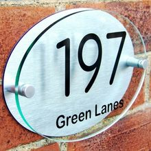 Customize HOUSE DOOR NUMBER PLAQUE PLATE WALL GATE SIGN NAME GLASS ACRYLIC ALUMINIUM