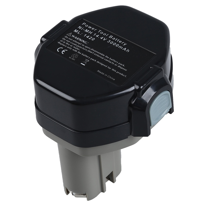 New 14.4 V Battery For MAKITA 1433 1434 Makita 6233D 4033D 6333D 6336D 6337D 8433D, black+gray image