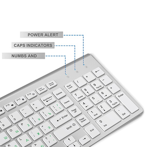 Image 4 - JOYACCESS الفضة لوحة مفاتيح روسية الماوس مجموعة لاسلكية مريحة Mause الأعمال رقيقة لوحة مفاتيح وماوس الماوس الصامت للمكتب