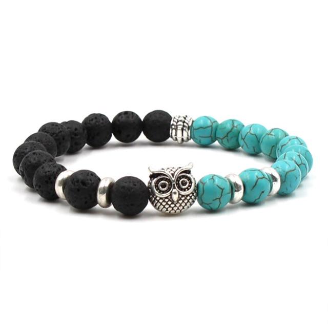 charm Chakra Men's Natural Stone Bracelets couple zirconia round lion beads Bracelet&bangle set Jewelry for men best gift