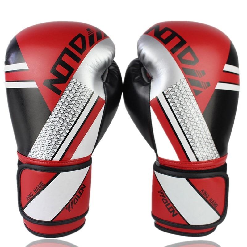 Luvas de Boxe Couro do Plutônio Luvas de Perfuração com Apoio da Junta do Pulso para Lutar Mma Muay Thai Artes Marciais Treinamento 8 – 10 12 oz