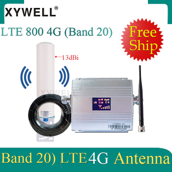 Russia 4G signal Booster Band20 LTE 800MHz Mobile Signal Booster 4g Cell phone Amplifier 4G cellular signal repeater 4g antenna