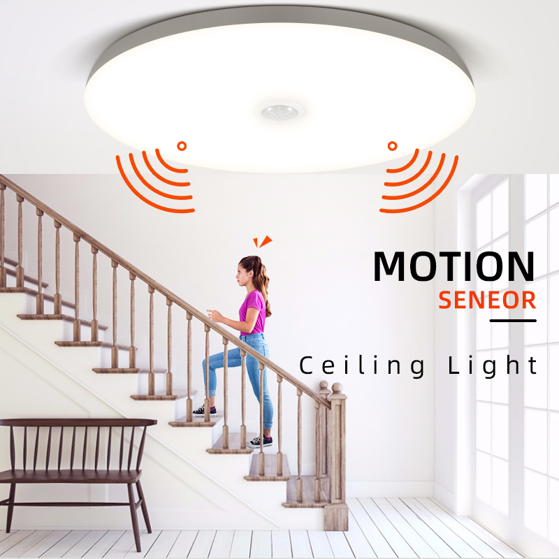 Modern LED Ceiling Lights PIR Motion Sensor Ceiling Lamps 12 18W Night Light Fixtures For Entrance Balcony Corridor Led Lamparas