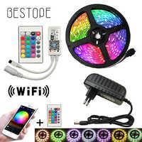 5050 LED Bande WIFI RVB RGBW RGBWW 5M 10M 15M RVB LED Couleur Changeante Flexible LED Lumière + Télécommande WIFI + Puissance