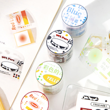 6 PCS/LOT colorful paradise series paper decorative tape PET tape