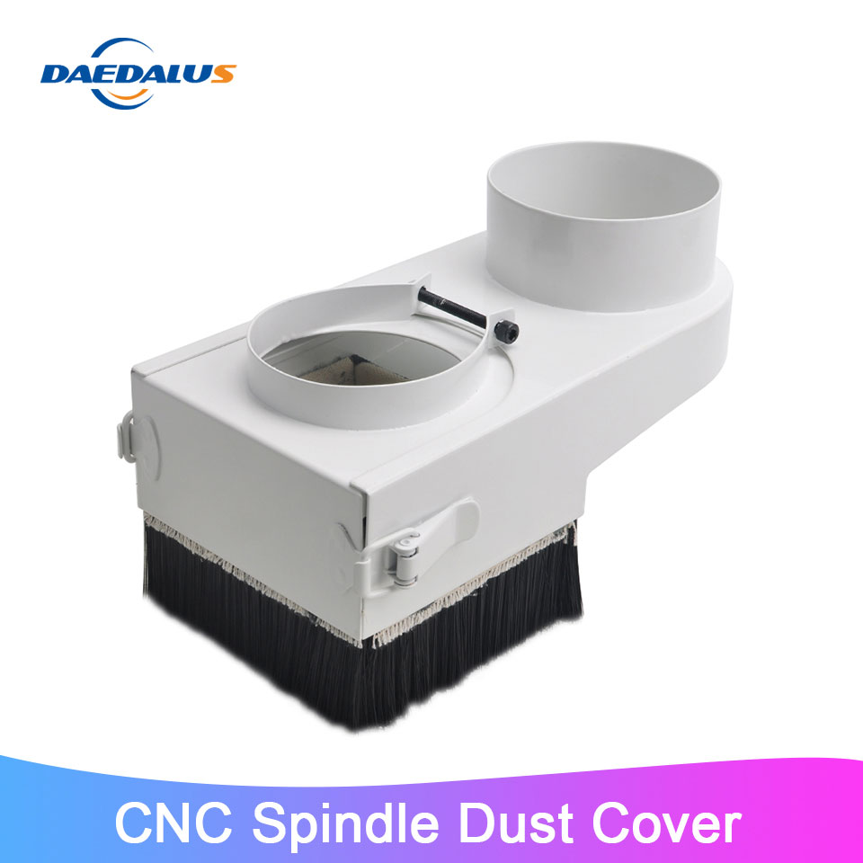 65mm 75mm 80mm Spindle Dust Cover CNC Woodworking Dust Cover Collector For CNC Engraving Milling Machine Motor