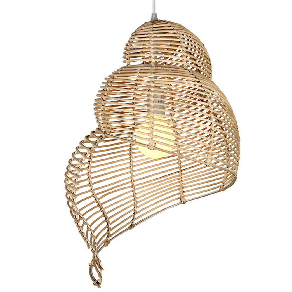 E27 Pendant Lights Conch Bamboo Hanging Lamps Creative Rattan Lamp Light Fixture Suspension Luminaire Modern Home Decoration