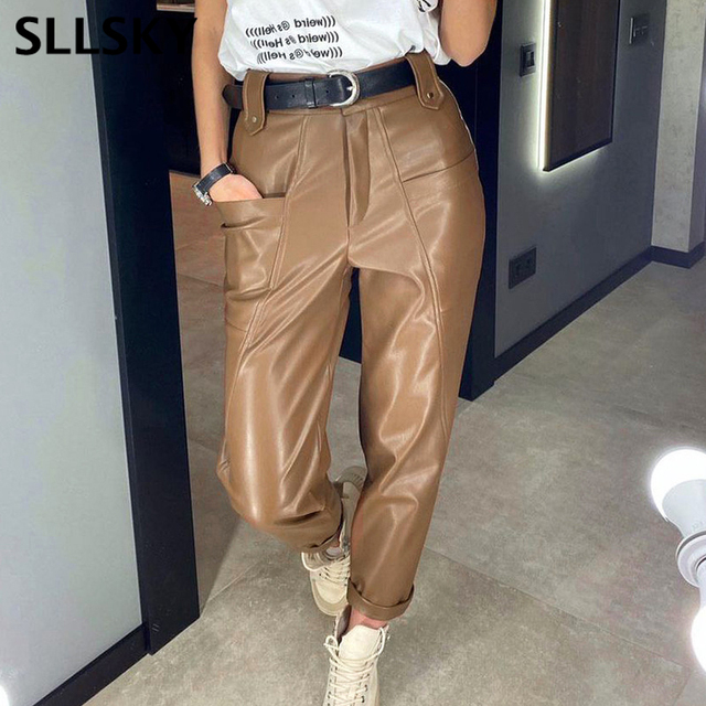 Ladies Leather Trousers 1