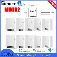 Sonoff Mini R2 DIY 2Way Wifi Switch Alexa Google Home Wireless eWelink Remote Control Smart Home Automation Sonoff interruptor