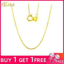 ZHIXI Подлинная 18 К белая цепочка из желтого золота 18 К ювелирные изделия из золота 18 дюймов AU750 ювелирные изделия для женщин модный подарок на день рождения D206
