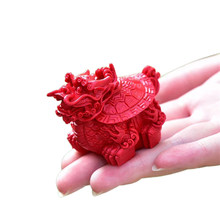 Tea Pet Natural Cinnabar Dragon Turtle Statue Figurines Tea Ceremony Accessories Feng Shui Tea Pets Home Decor Crafts Artwork(China)
