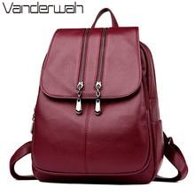 2019 Bagpack Luxury Women Backpacks School College Bags For Teenager Girls Back Pack Leather Travel Backpack Mochila Feminina