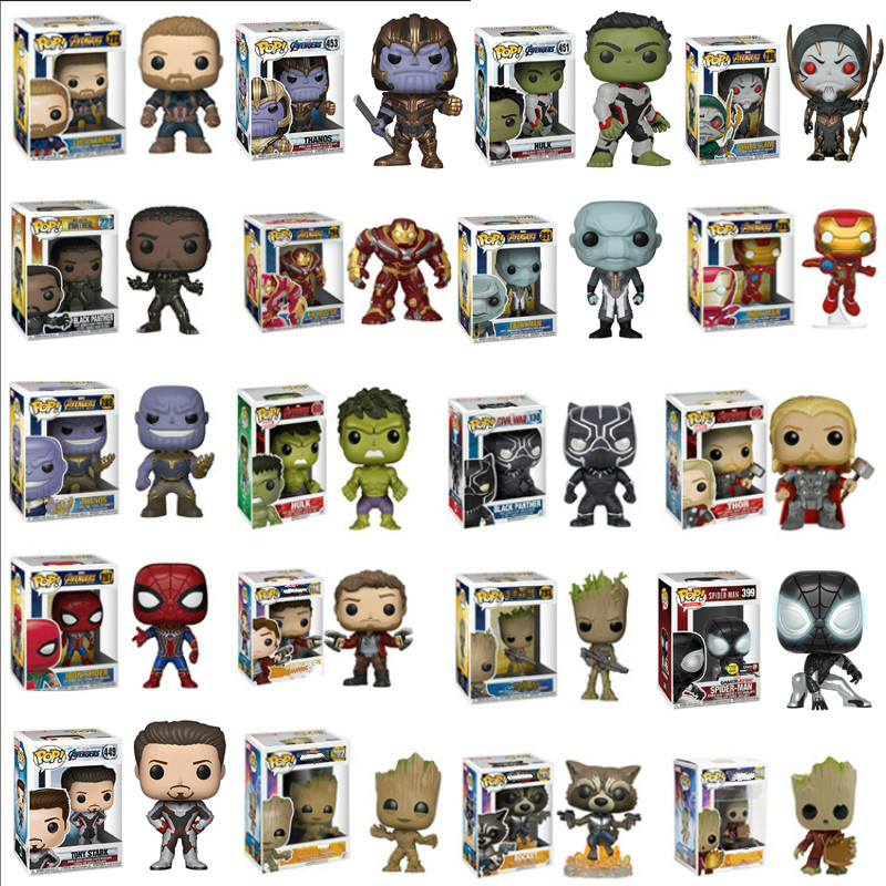 FUNKO POP Marvel Avengers Stan Iron Man Thor Figure PVC Action Figure Collection Model Toys For Kids Birthday Gift Christmas